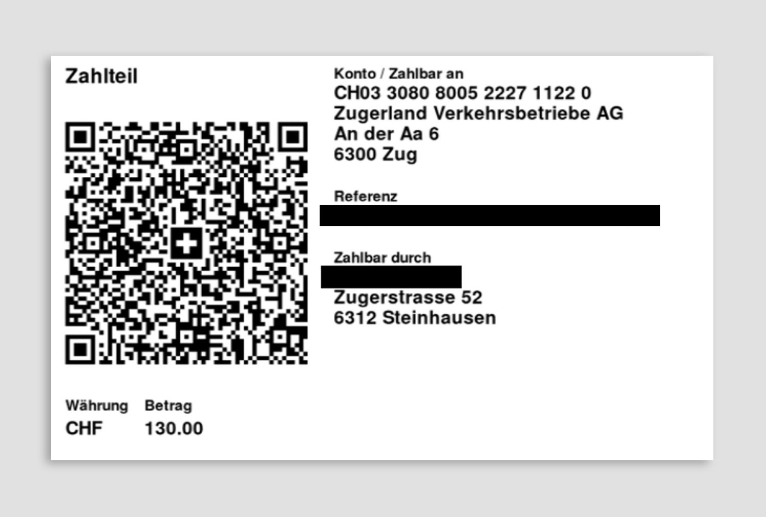 Swiss QR-Bill and payment slip, with salesforce and Formtitan - our client ZVB did it